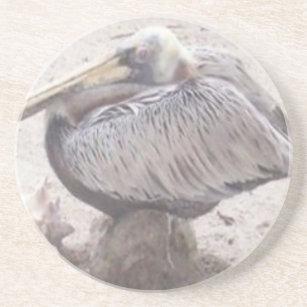 Porta-copos De Arenito Pelicano puro com Shell