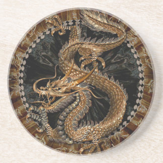 Porta-copos De Arenito Pentagram do dragão