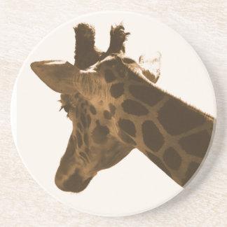 Porta-copos De Arenito Perfil Reticulate do girafa