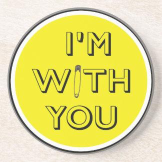Porta-copos De Arenito Pin de segurança - Eu sou com você