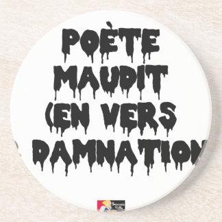 Porta-copos De Arenito Poeta maldiz (em PARA E DAMNATION) - Jogos de