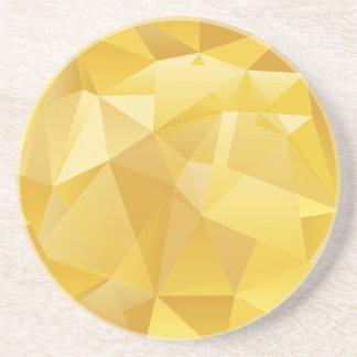 Porta-copos De Arenito Polígono amarelo