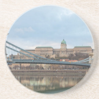 Porta-copos De Arenito Ponte Chain com castelo Hungria Budapest de Buda