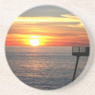 Porta-copos De Arenito Por do sol