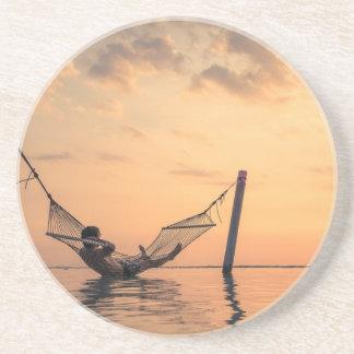 Porta-copos De Arenito Por do sol de Bali