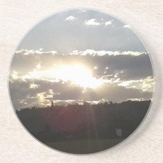 Porta-copos De Arenito Por do sol de Imperani