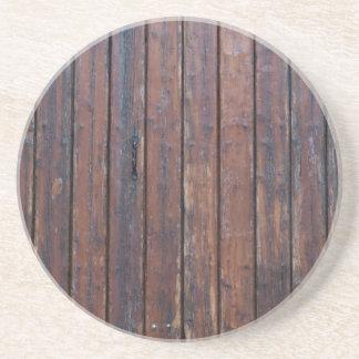 Porta-copos De Arenito Portas de madeira velhas de Brown com apoios