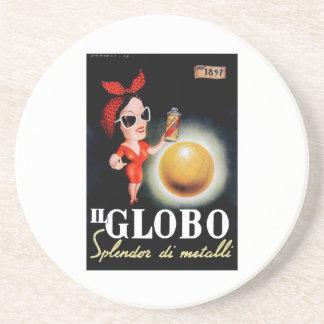 Porta-copos De Arenito Poster 1949 italiano da propaganda do IL Globo