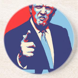 """Porta-copos De Arenito Poster 2017 da paródia do """"medo"""" de Donald Trump"""