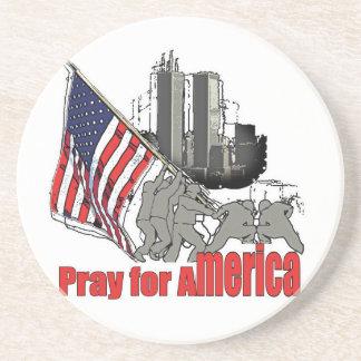 Porta-copos De Arenito Pray para América