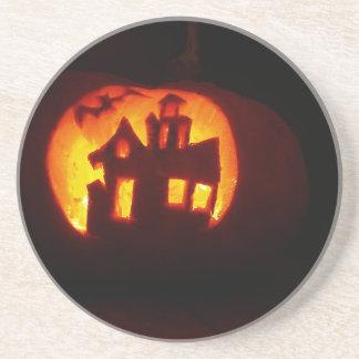 Porta-copos De Arenito Pumpkin_craft_for_Halloween