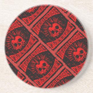 Porta-copos De Arenito punk rock para sempre