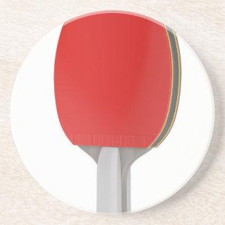 Porta-copos De Arenito Raquete do pong do sibilo