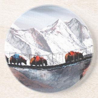 Porta-copos De Arenito Rebanho de iaques Himalaya da montanha