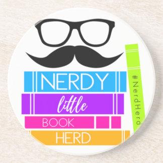 Porta-copos De Arenito Rebanho pequeno Nerdy do livro