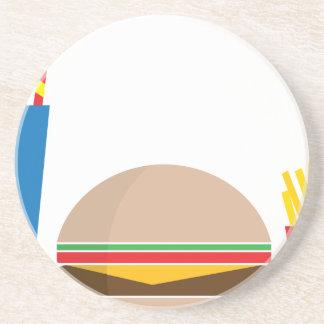 Porta-copos De Arenito refeição do fast food