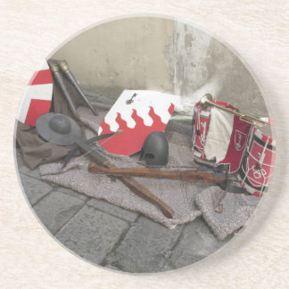 Porta-copos De Arenito Réplicas de capacetes medievais, bestas,