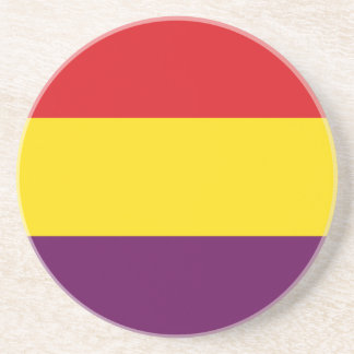 Porta-copos De Arenito República da bandeira da espanha - bandera