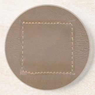 Porta-copos De Arenito Revestimento do impressão do olhar do COURO do
