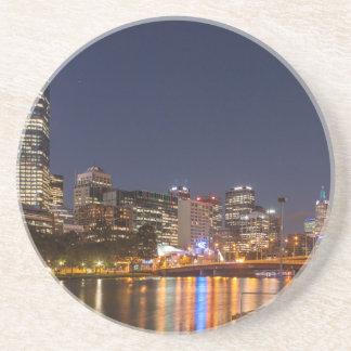 Porta-copos De Arenito Rio de Melbourne Yarra na noite