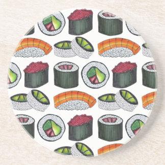 Porta-copos De Arenito Rolo de atum japonês Nigiri de Califórnia do sushi