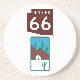 Porta-copos De Arenito Rota 66 - 66 históricos & estrada cénico
