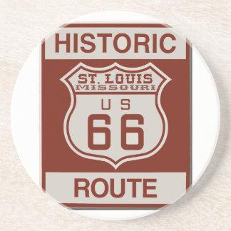 Porta-copos De Arenito Rota 66 de St Louis