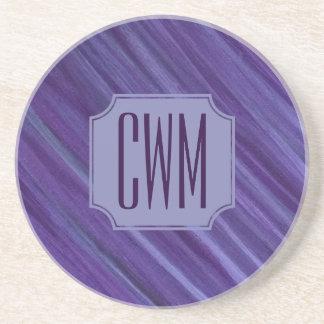 Porta-copos De Arenito Roxo violeta | do Lilac indiferente do monograma