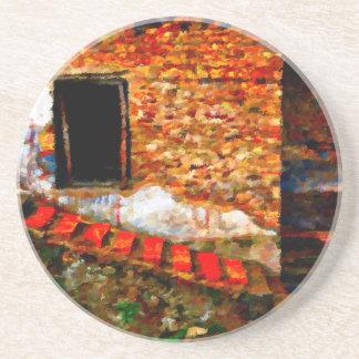 Porta-copos De Arenito Ruínas em Pompeii Italia