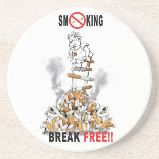 Porta-copos De Arenito Ruptura livre - pare de fumar
