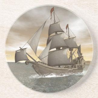Porta-copos De Arenito Sair do navio de pirata - 3D rendem