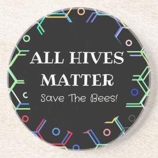 Porta-copos De Arenito Salvar as abelhas - toda a matéria das colmeia