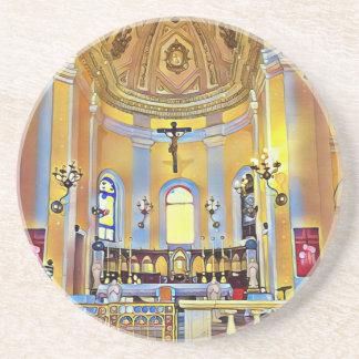 Porta-copos De Arenito Santuário artístico velho bonito de San Juan