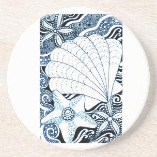 Porta-copos De Arenito Seashells