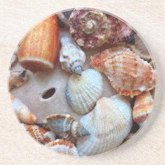 Porta-copos De Arenito Seashells pelo litoral