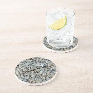 Porta-copos De Arenito Seixos na fotografia da pedra da praia