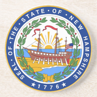 Porta-copos De Arenito Selo do estado de New Hampshire