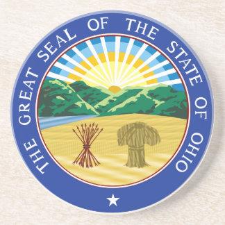 Porta-copos De Arenito Selo do estado de Ohio