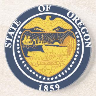 Porta-copos De Arenito Selo do estado de Oregon