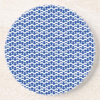 Porta-copos De Arenito semi mosaico do azul do círculo
