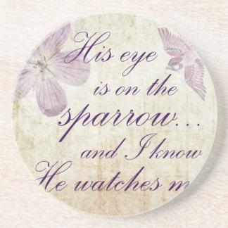 Porta-copos De Arenito Seu olho está na arte do verso da bíblia do