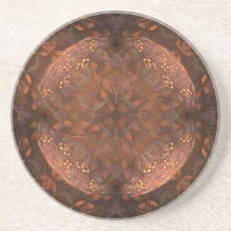 Porta-copos De Arenito Shimmer de cobre dourado