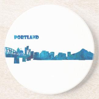Porta-copos De Arenito Silhueta da skyline de Portland