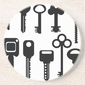 Porta-copos De Arenito silhuetas das chaves