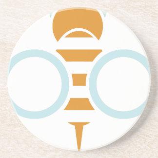 Porta-copos De Arenito Símbolo da abelha