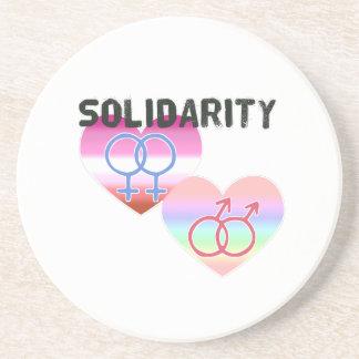 Porta-copos De Arenito Solidariedade alegre lésbica