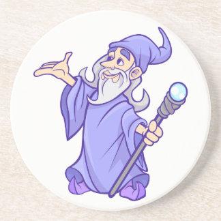 Porta-copos De Arenito Sorceress roxo mágico do mágico do feiticeiro