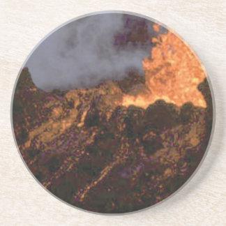 Porta-copos De Arenito Splatter e fluxo da lava
