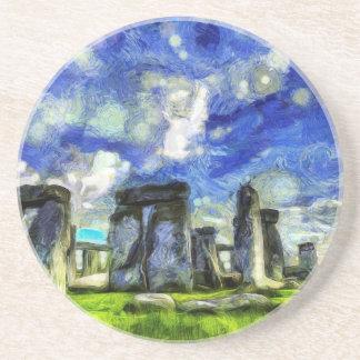 Porta-copos De Arenito Stonehenge Vincent van Gogh