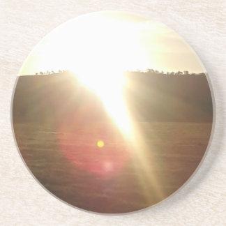 Porta-copos De Arenito Sun dourado 3